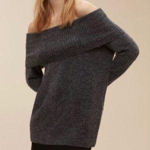 Aritzia Wilfred Free Faretta Sweater Dark Grey SM